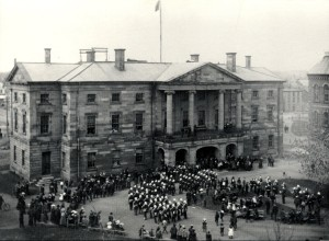 82nd Queens County Battalion of Infantry at Province House, 1899, for the Closing of the Provincial Legislature Parade