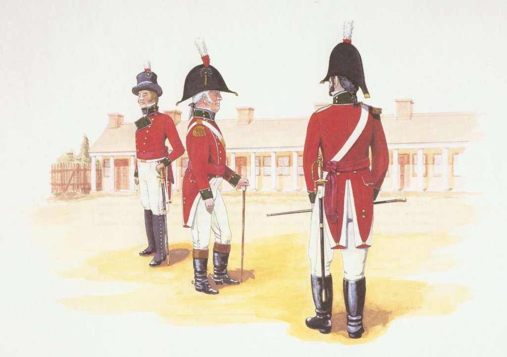 Officers of H.M. Corps of Island St. Johns Volunteers (PEI Fencibles) 1797 - 1802