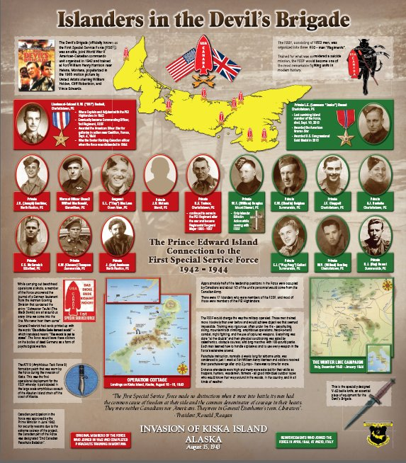 Islanders in the Devil's Brigade – The Prince Edward Island Connection To the First Special Service Force 1942 - 1944